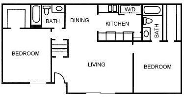1,171 sq. ft. B4 floor plan