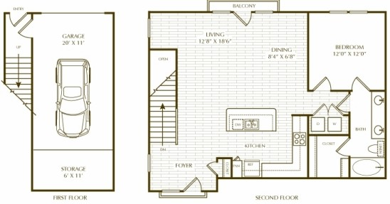 937 sq. ft. A10 Dilbeck floor plan