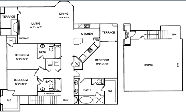 1,702 sq. ft. floor plan