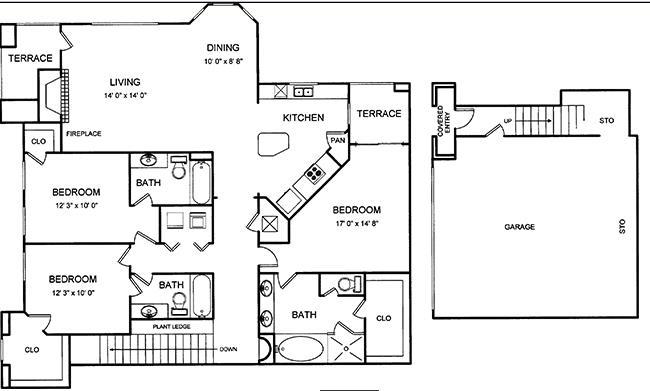 1,702 sq. ft. floor plan