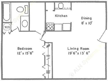 727 sq. ft. to 795 sq. ft. A/B floor plan