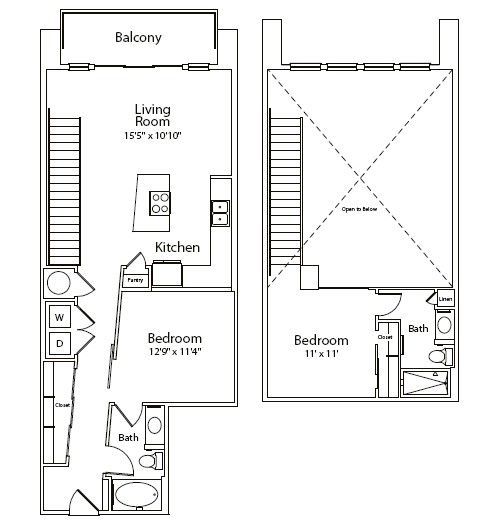 1,091 sq. ft. floor plan