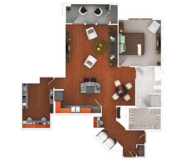 1,052 sq. ft. Ag12.1 floor plan