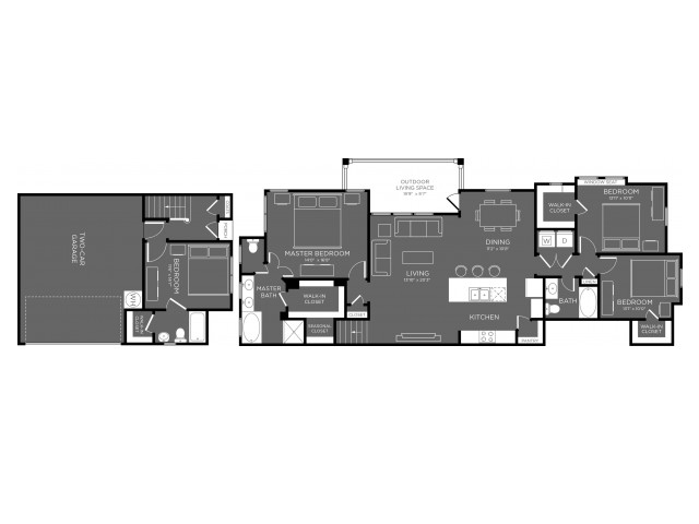 1,917 sq. ft. Woodland floor plan