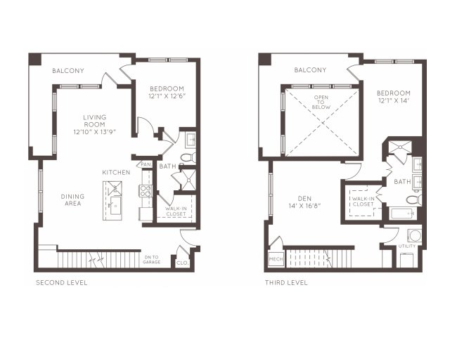 1,772 sq. ft. TH2 floor plan