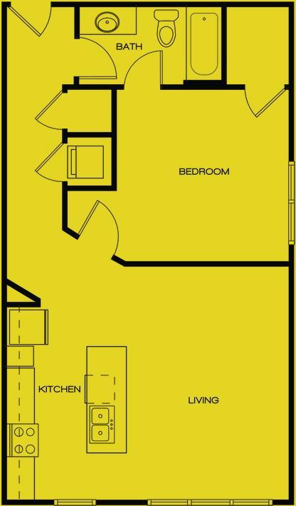 648 sq. ft. SAN PERDO floor plan