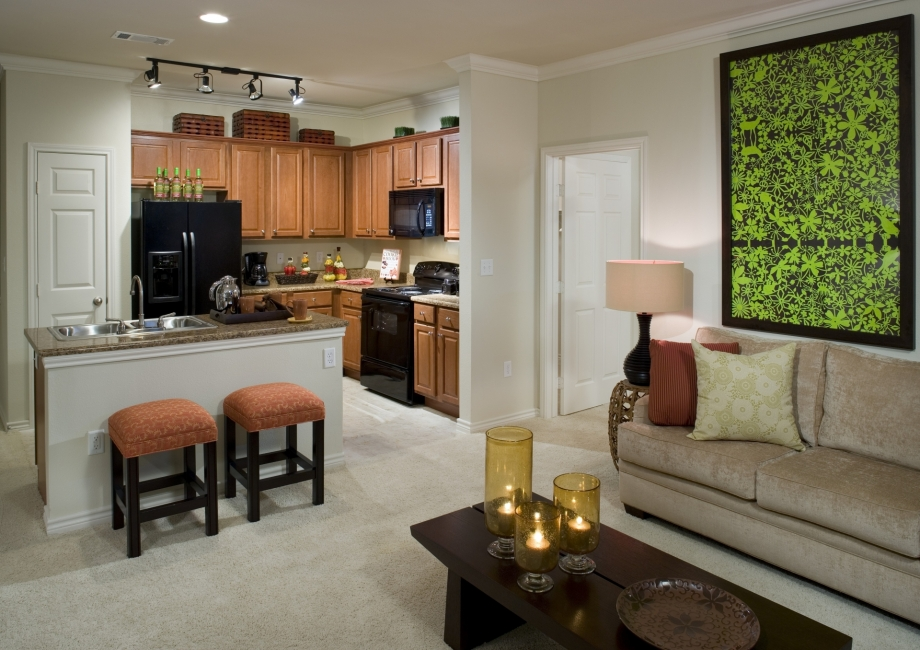 Living/Kitchen at Listing #145150