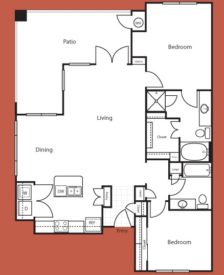 1,237 sq. ft. Atlanta floor plan