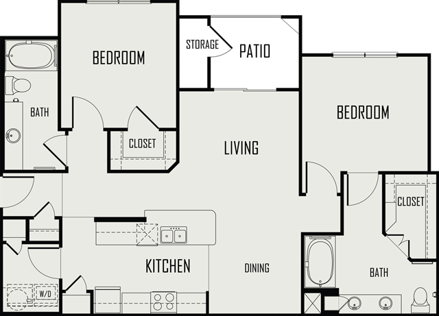 1,080 sq. ft. Nueces floor plan