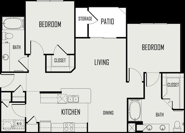 1,080 sq. ft. Nueces floor plan