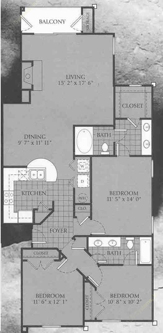 1,379 sq. ft. Fairmont floor plan