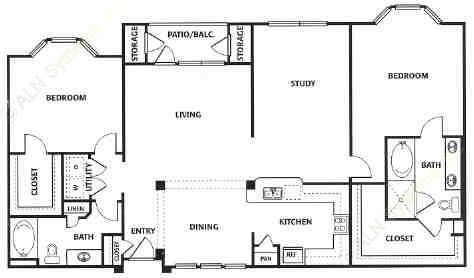 1,680 sq. ft. G floor plan