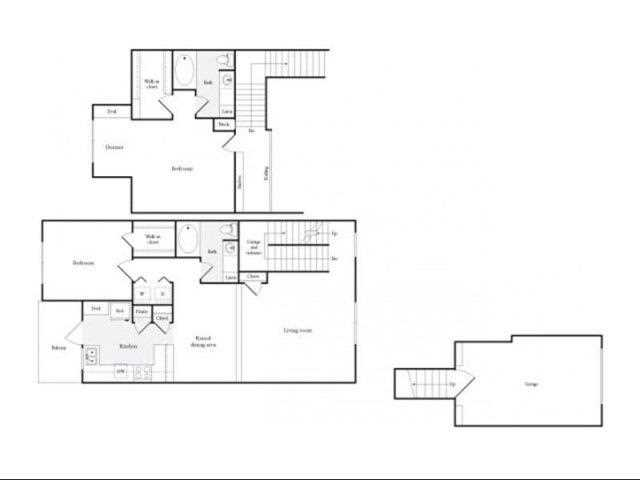1,560 sq. ft. H floor plan
