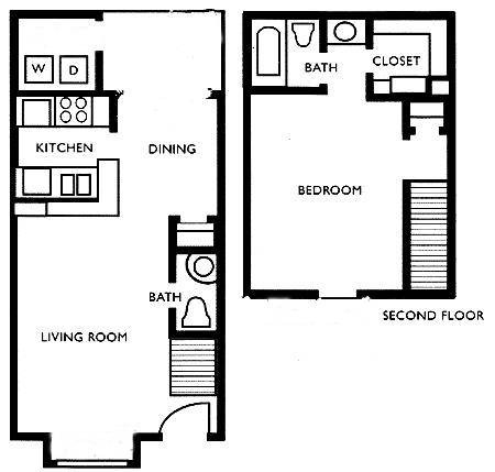 720 sq. ft. F3 floor plan