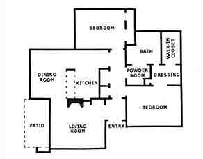 1,171 sq. ft. B1 floor plan