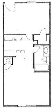 540 sq. ft. floor plan