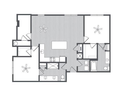 1,203 sq. ft. Texas floor plan
