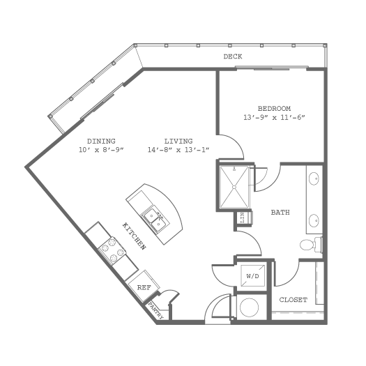 794 sq. ft. A10 floor plan