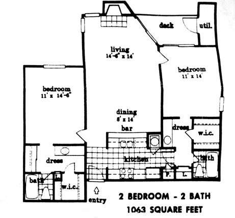 1,063 sq. ft. floor plan