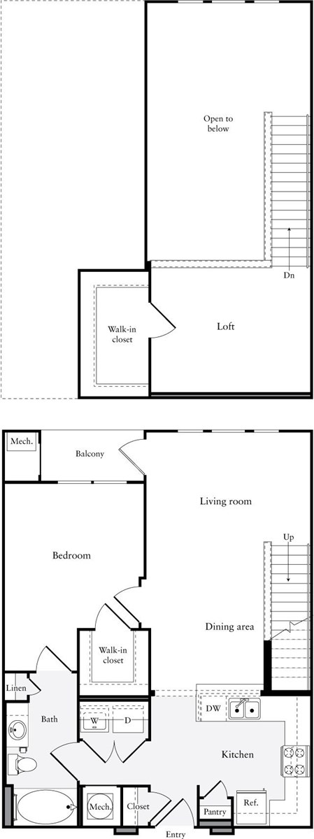 1,015 sq. ft. A12.1 floor plan