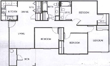 1,238 sq. ft. D1/60 floor plan