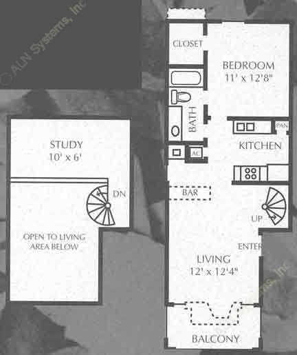 753 sq. ft. to 764 sq. ft. A4/A5 floor plan