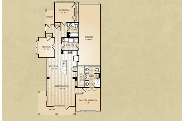 1,402 sq. ft. Travis floor plan