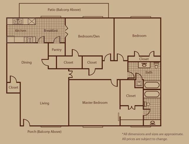 1,534 sq. ft. H floor plan
