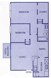 825 sq. ft. D floor plan