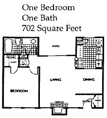 702 sq. ft. 60% floor plan