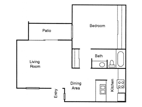 665 sq. ft. Pine floor plan