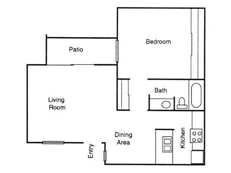 665 sq. ft. Oak floor plan