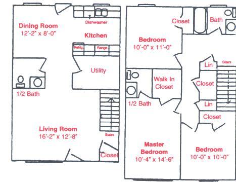 1,180 sq. ft. C1 floor plan