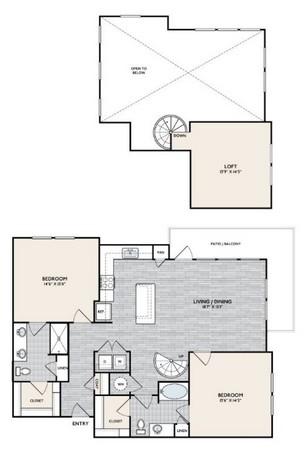 1,493 sq. ft. B4 MEZ floor plan