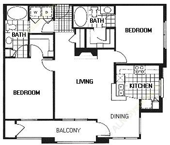 1,053 sq. ft. B2/CHELSEA floor plan