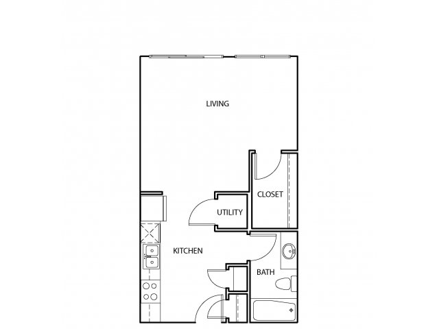 526 sq. ft. E1 floor plan