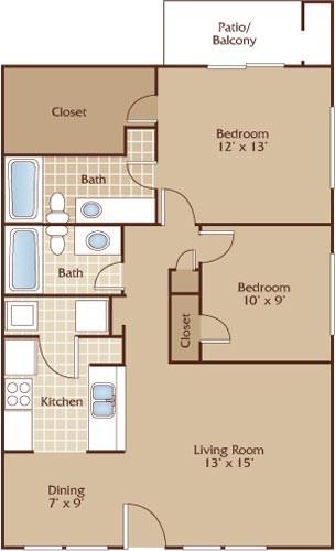 925 sq. ft. Capitol floor plan