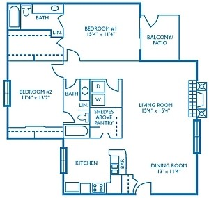 1,275 sq. ft. Eagle floor plan