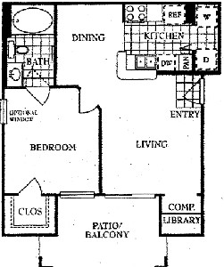 774 sq. ft. A floor plan
