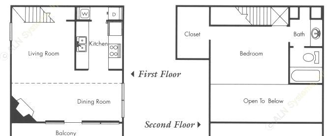 465 sq. ft. A1 floor plan