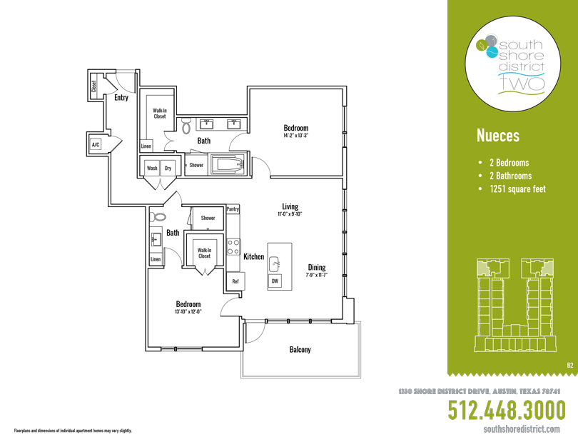 1,251 sq. ft. Nueces floor plan