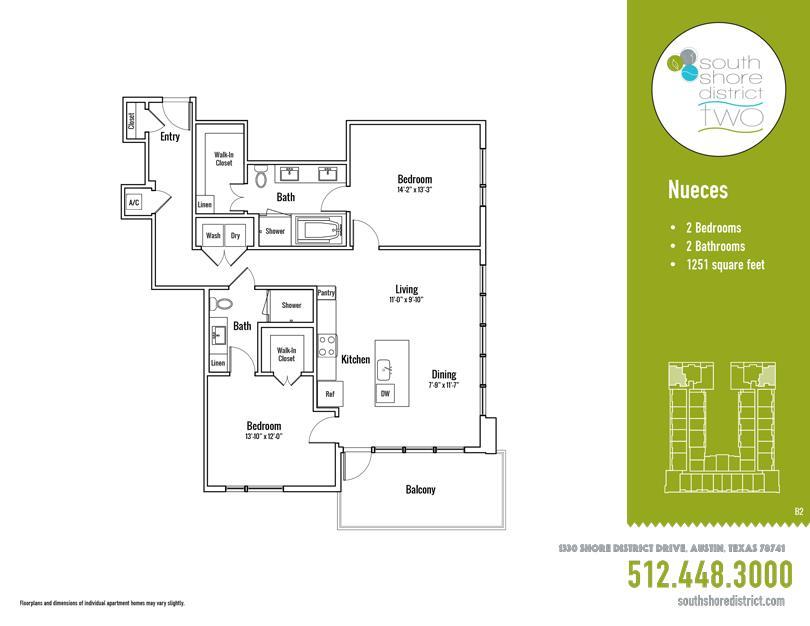1,251 sq. ft. Nueces floor plan