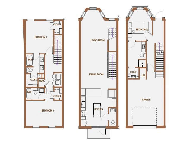 1,897 sq. ft. TH-2 floor plan