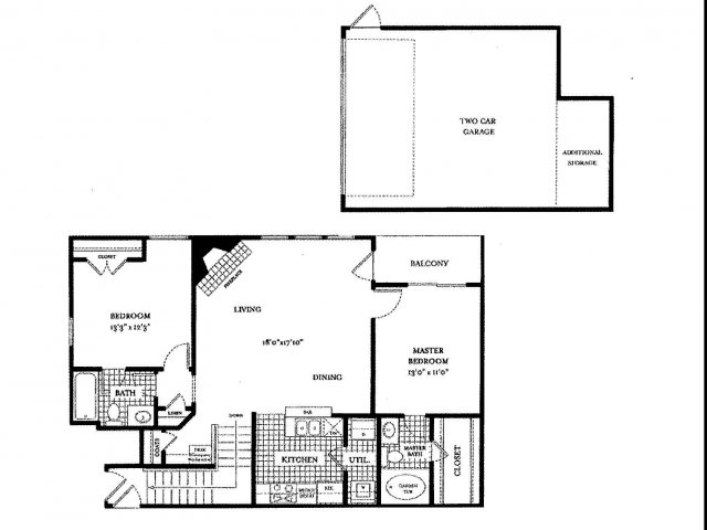 1,122 sq. ft. RIVIERA floor plan