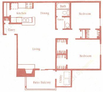 847 sq. ft. C floor plan