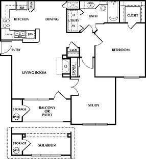 860 sq. ft. King floor plan