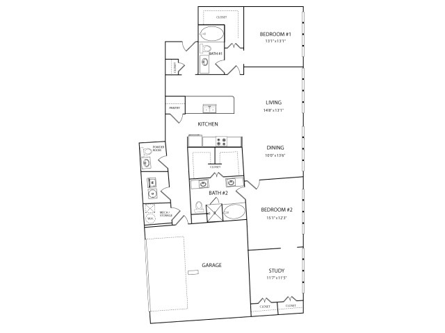 1,756 sq. ft. PH floor plan