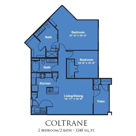 1,248 sq. ft. COLTRANE/Mkt floor plan