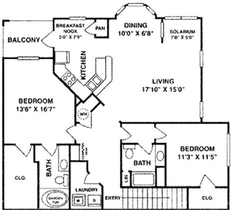 1,481 sq. ft. B6 Upper floor plan