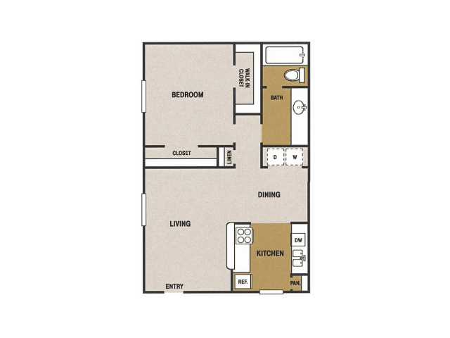 725 sq. ft. G floor plan